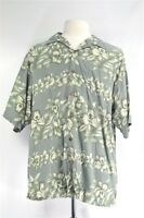 Tommy Bahama Large Silk Gray Floral Men's SHIRT