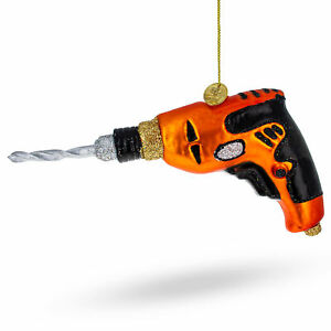 Power Drill Toll Glass Christmas Ornament