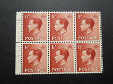 Gb 1936 Edward Viii 1½d P3 Booklet Pane Pb3 From Booklets B43/5 Um