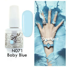 SYSTER 15ml Nail Art Soak Off Color UV Lamp Gel Polish N071 - Baby Blue