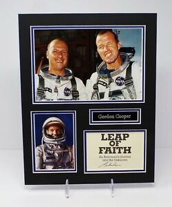 Gordon COOPER Signed Mounted Mercury 7 Astronaut Photo Display AFTAL RD COA