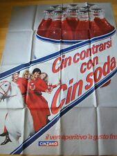 1970 CINZANO SODA Poster grande cartellone pubblicitario cm 95x135 (introvabile)