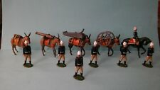 BRITAINS MOUNTAIN GUN MULE SET, FIRST VERSION, LEAD TOY SOLDIERS
