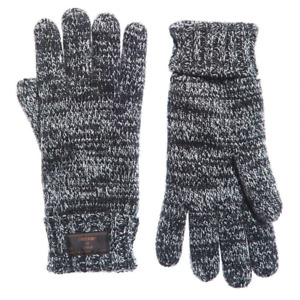 Superdry Mens Stockholm Knitted Gloves Black Twist
