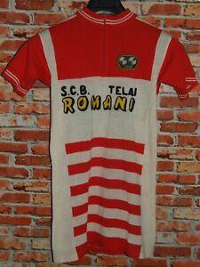 Shirt Bike Shirt Maillot Cycling Heroic Vintage 70'S Roman 50% Wool Embroidered