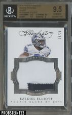2016 Flawless Silver Ezekiel Elliott Cowboys RC Rookie Patch /20 BGS 9.5