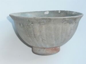 BEAUTIFUL CHINESE MING DYNASTY CELADON FLUTED MING BOWL