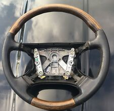 REDUCED jaguar XJ8 XJR X308 wood black leather steering wheel