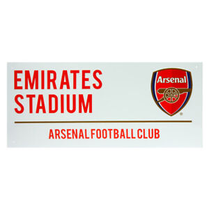 ARSENAL FC STEEL FULL COLOUR  STREET SIGN OFFICIALLY LICENSED EMIRATES