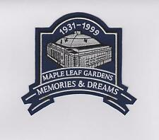 TORONTO MAPLE LEAFS GARDENS MEMORIES AND DREAMS PATCH  MAPLE LEAFS JERSEY PATCH