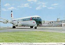 Airport Postcard Guernsey BEA Vanguard
