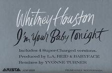 WHITNEY HOUSTON I'm Your Baby Tonight (1990 U.S. 4 Track Promo 12inch)