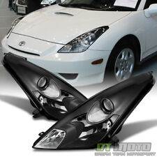 For 2000 2001 2002 2003 2004 2005 Toyota Celica Blk Headlights lamps Left+Right