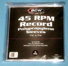"50 Clear Plastic 45 RPM Outer Sleeves 4 MIL - HEAVY DUTY 7"" Vinyl Record Covers"