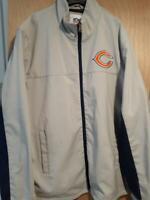 G-III Chicago Bears NFL zipper tan jacket 2 pockets mens XL 100% polyester