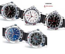 Vostok Komandirskie Russian Military & Sport Watch, Genuine Leather Strap