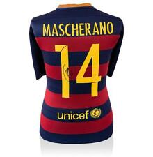 Javier Torres de vuelta firmado FC Barcelona 2015-16 Home Camisa autógrafo