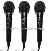 "3X Dynamic Handheld Microphone Karaoke DJ Vocal Mic with On/Off Switch 1/4"" Plug"