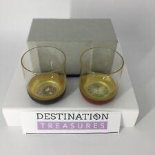 Tatcha Curated Set of 2 Artisan Tumblers Glasses Versatile Juice Wine Sake