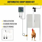 66W Automatic Chicken Coop Door Opener and Closer with Timer IR Sensor 2 Remotes