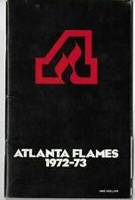 1972-73 ATLANTA FLAMES HOCKEY MEDIA GUIDE