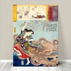 "Traditional Japanese SAMURAI Warrior Art CANVAS PRINT 36x24""~ Kuniyoshi #270"