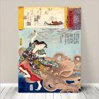 "Traditional Japanese SAMURAI Warrior Art CANVAS PRINT 36x24""~ Kuniyoshi #270"