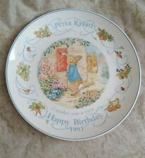 Wedgwood Plate Peter Rabbit Wishes You A Very Happy Birthday 1997 Beatrix Potter