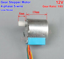 DC 12V Small Reduction Micro Stepping 4-phase 5-wire Gear Stepper Motor