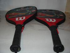 2 Wilson Stretch 22'' Cliff Swain Xpress Racquelball Sport Racquet with case
