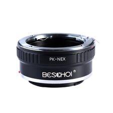 Beschoi PK-E Lens Adapter Ring for Pentax PK K Lens to Sony NEX E-Mount Cameras