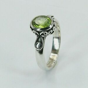 Size 6 7 8 9 - Green PERIDOT Ring - 925 STERLING SILVER #39