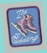 """2-5/8"""" Tall Ice Skating Boots Patch Mint - Great For Scouts & Skating Parties"""