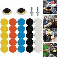 "31Pcs 3"" Car Polisher Pad Buffer Gross Polishing Pads Kit Sponge Waxing Buffing"