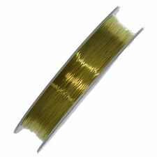28m Gold Beading Craft Copper Wire Wrapping 0.3mm Jewellery Tiara Findingg