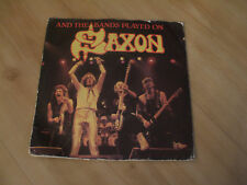 """SAXON - AND THE BAND PLAYED ON  (CARRERE 7"""" )"""