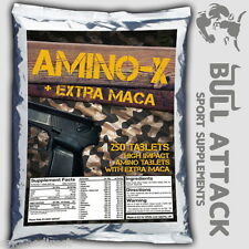250 TABLETS x BCAA, GLUTAMINE & MACA and B6 - Anabolic Amino Acids PROTEIN PACK