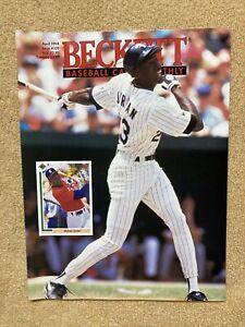 April 1994 Issue #109 Beckett Baseball Card Monthly Michael Jordan