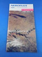 AEROFLOT RUSSIAN INTERNATIONAL AIRLINES TIMETABLE 997 NORTH AMERICAN ROUTES