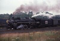 BURLINGTON ROUTE GTW Railroad Steam Locomotive Train Original Photo Slide