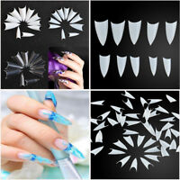 500 X Clear Natural White Point Stiletto Nail Tips UV Gel False French Acrylic