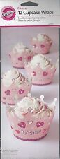 WILTON 12 Princess Cupcake Wraps