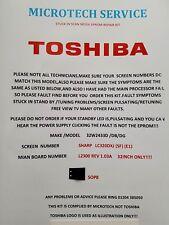 TOSHIBA 32W2433D /DB/DG    LC320DXJ L2300 REV 1.03A  STUCK IN SCAN FIRMWARE KIT