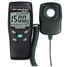 Tenmars TM-201L Digital Light Level Meter 200,000 Lux measure White LED Luxmeter