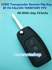 FORD BF FG Falcon Territory Mondeo FPV  SZ 3 Button Transponder Remote Flip Key