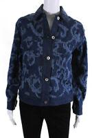Rag & Bone Womens Jacquard Denim Jacket Blue Size Small