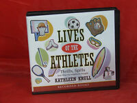 Unabridged Lives of the Athletes Thrills Spills by Kathleen Krull 2 CD audiobook