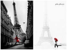 Au Revoir La Veste Rouge 2 Individual Posters Paris Europe Eiffel Tower Red New