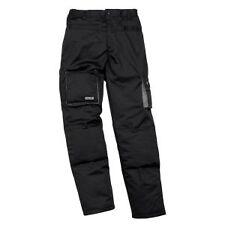 Pantaloni da lavoro felpato Nero - Grigio multitasche Panoply