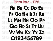 #1055 CUSTOM VINYL LETTERING Decal Windshield Graphic Text Car Banner Plaza Bold